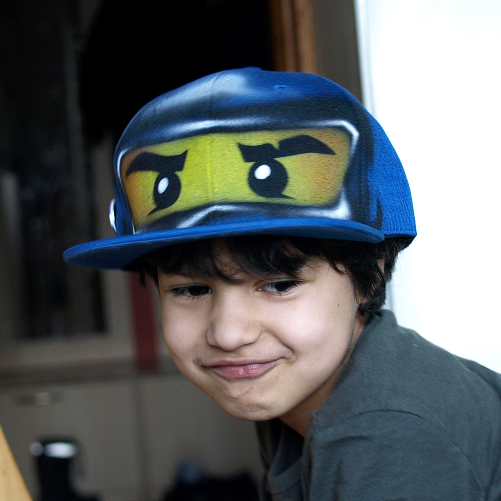 blue ninja go JAY snapback hat