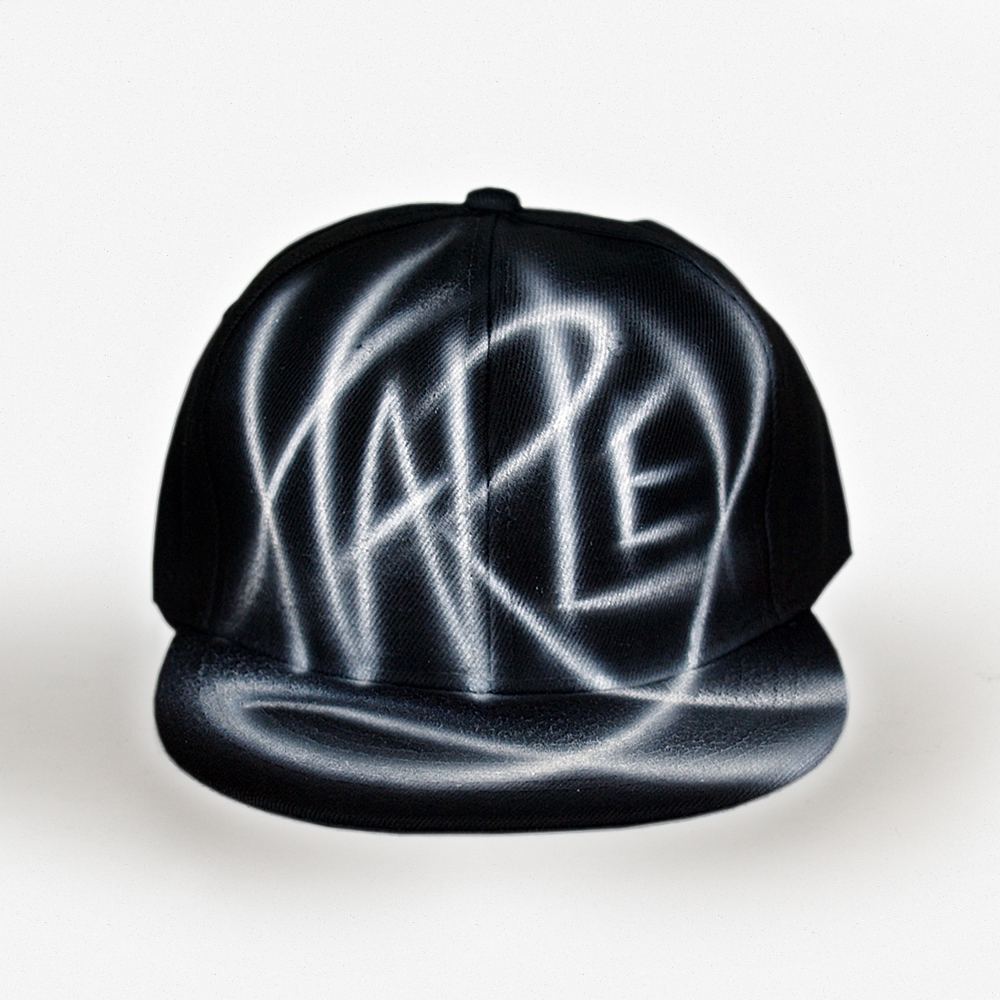 custom name airbrushed snapback - Harley - nargraffiti