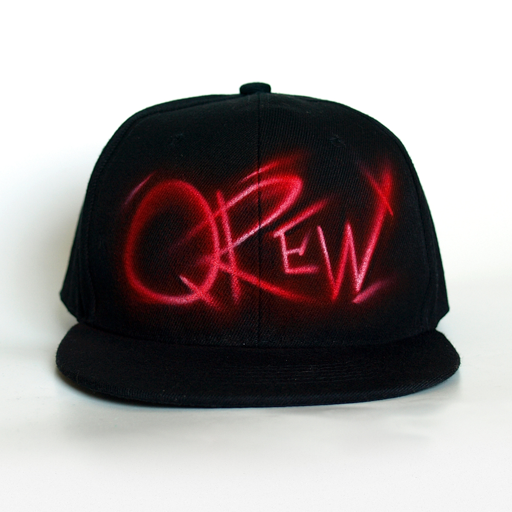 Custom Graffiti airbrushed Snapback hat | Qrew