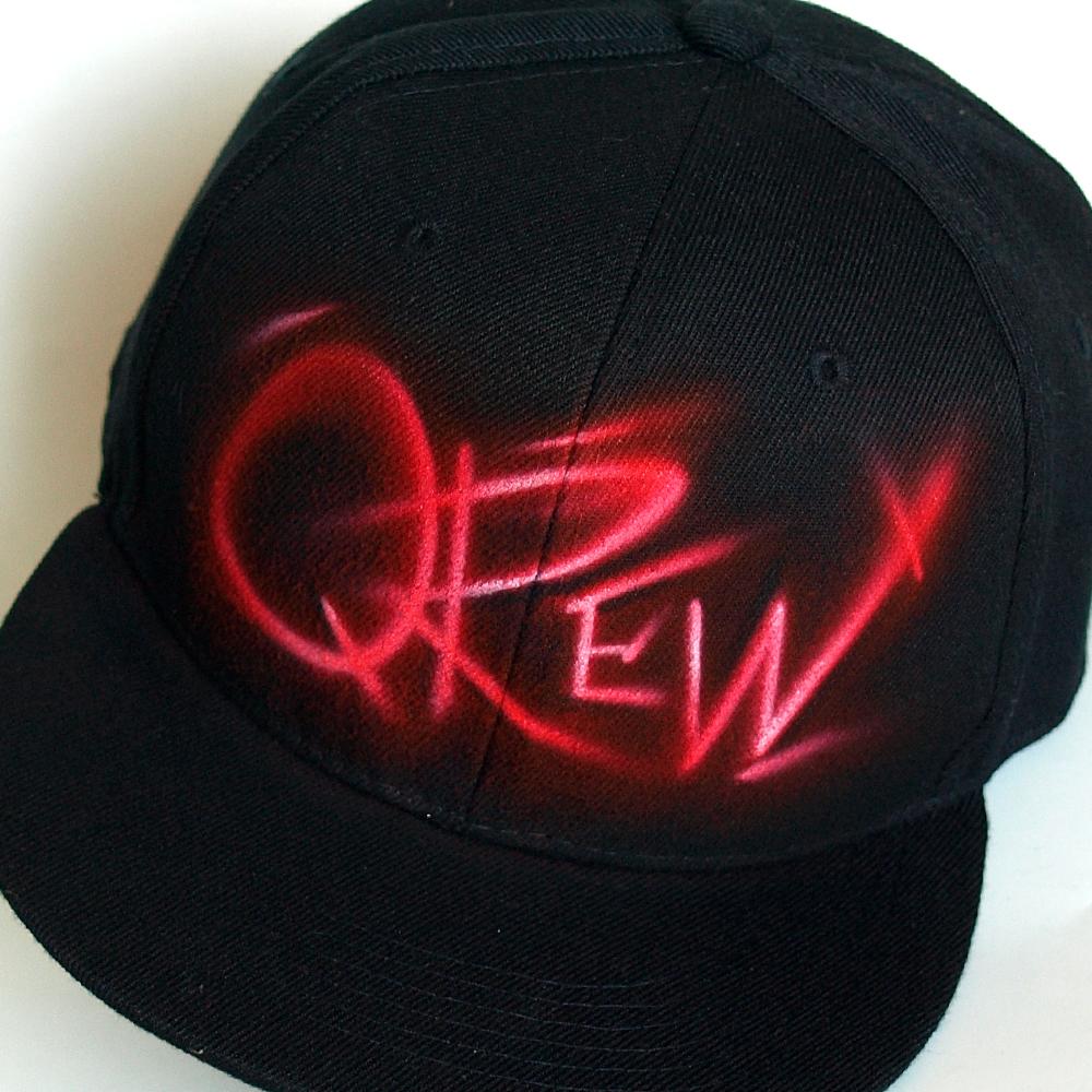 Custom Graffiti airbrushed Snapback hat | Qrew