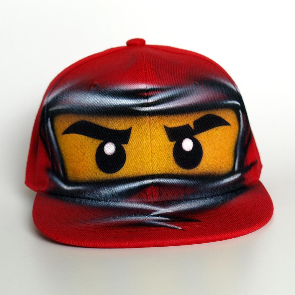 red ninja go KAI snapback hat
