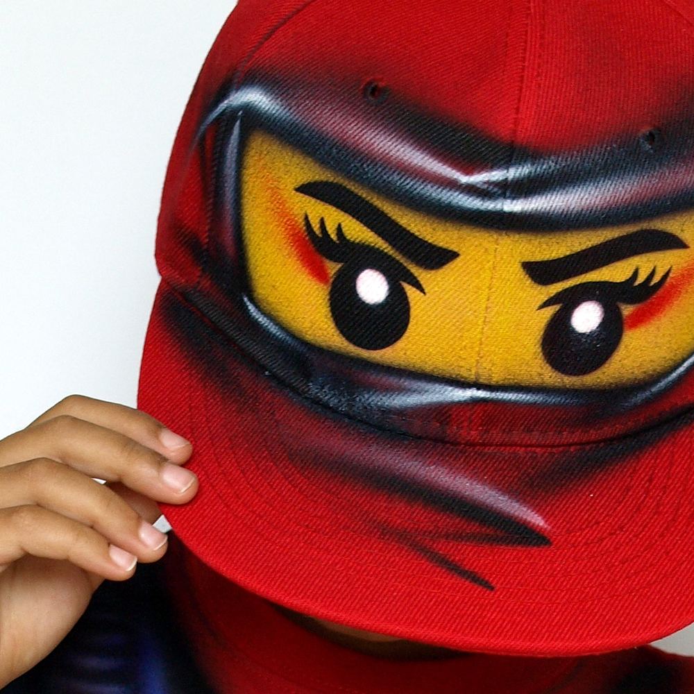 red ninja go girl NYA snapback hat