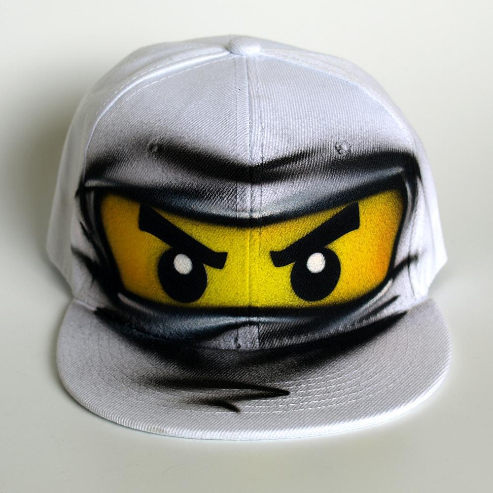 white ninja go ZANE snapback hat