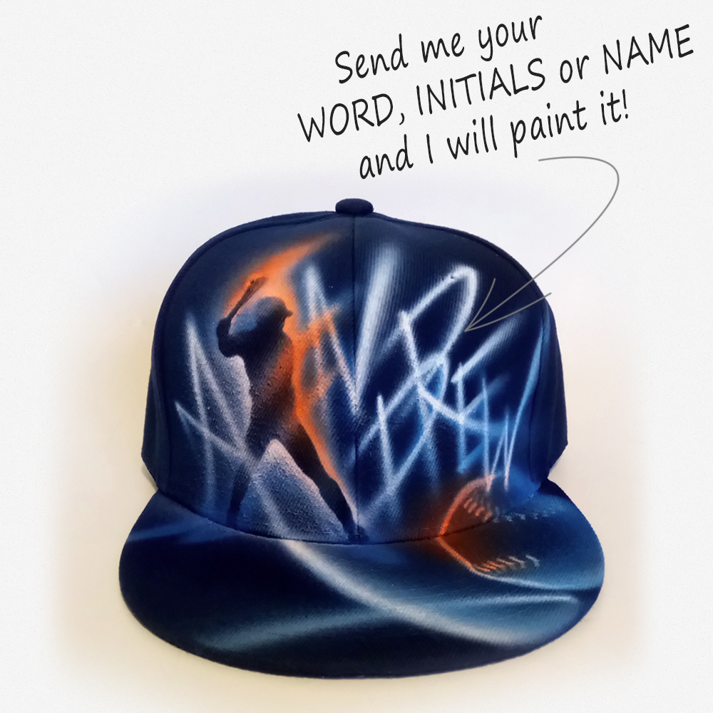 Personalized Baseball Player Gift, Custom Snapback hat | Andrew