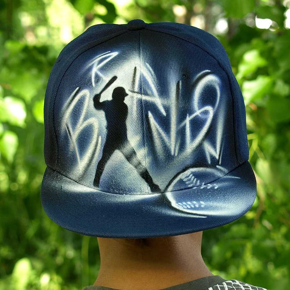 Airbrushed Baseball Snapback hat | Brandon