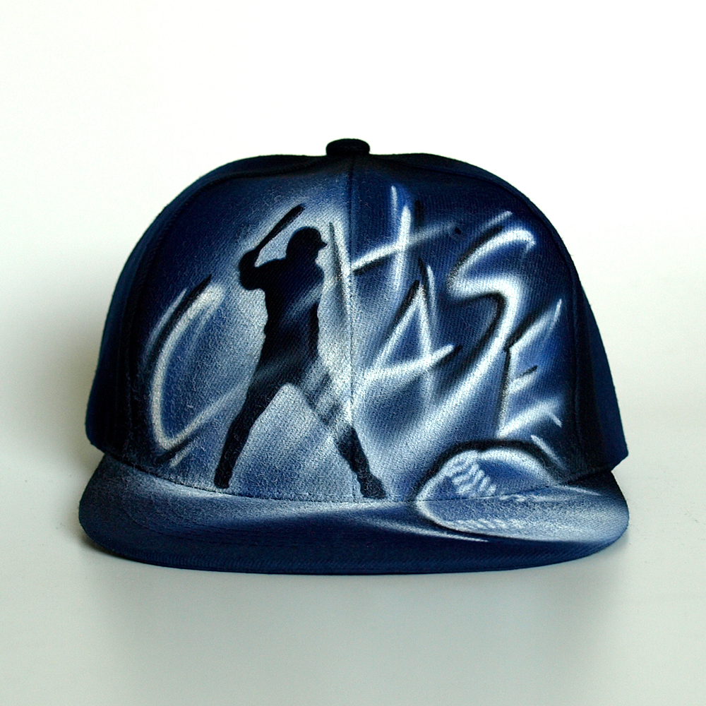 Painted Baseball Snapback hat | Chase
