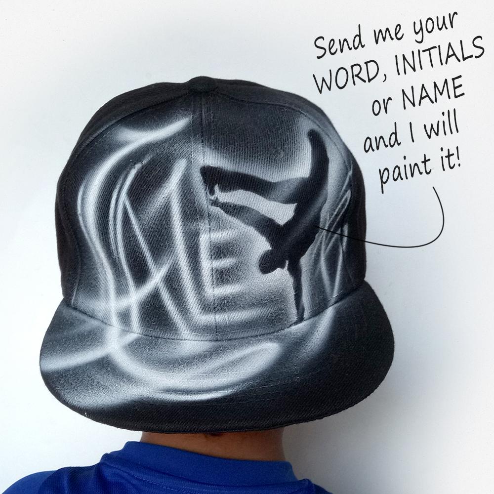 Hand painted Dancer Snapback hat | Caleb