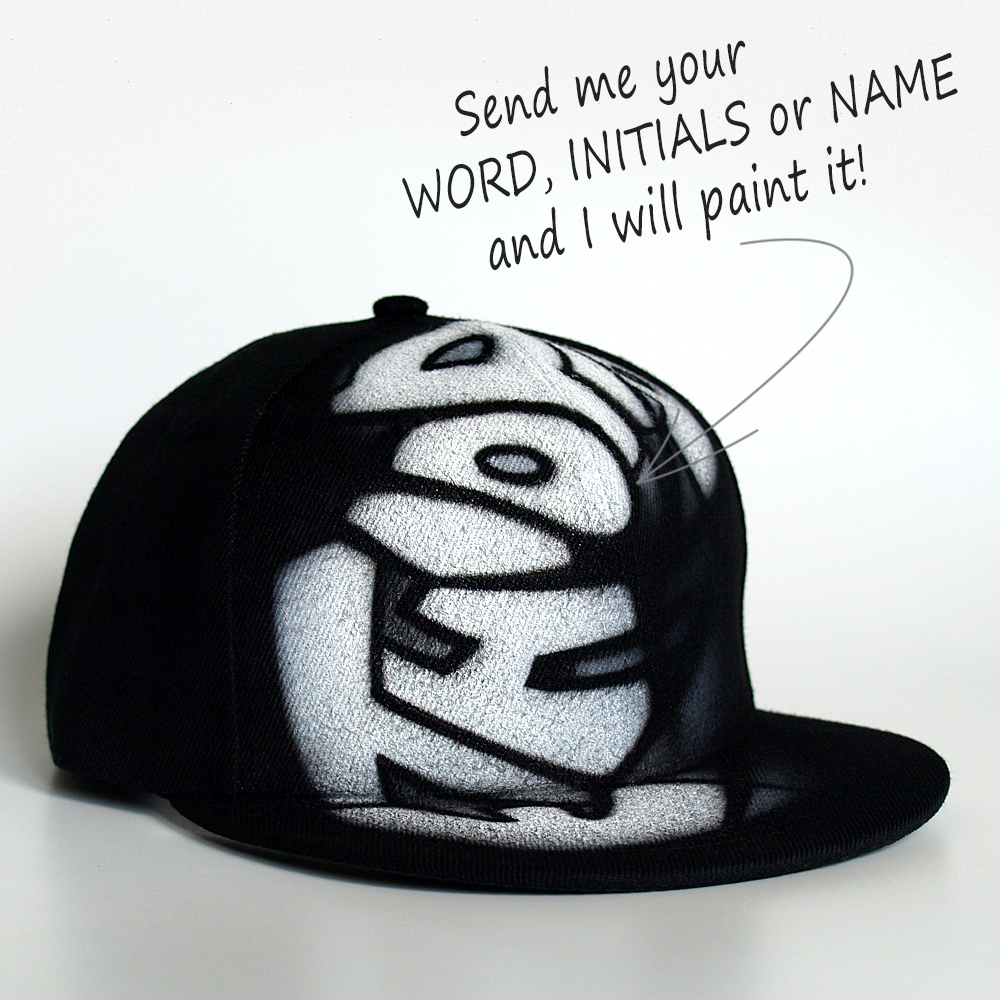 Custom Graffiti Snapback hat | Ethiopia