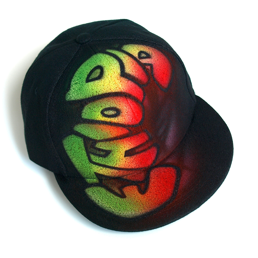Custom Graffiti painted Snapback hat | Ethiopia