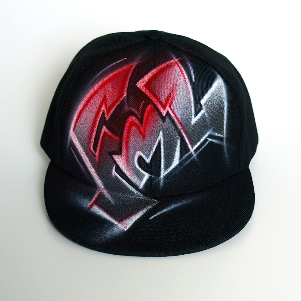 Custom Graffiti Initials Snapback hat   Fml