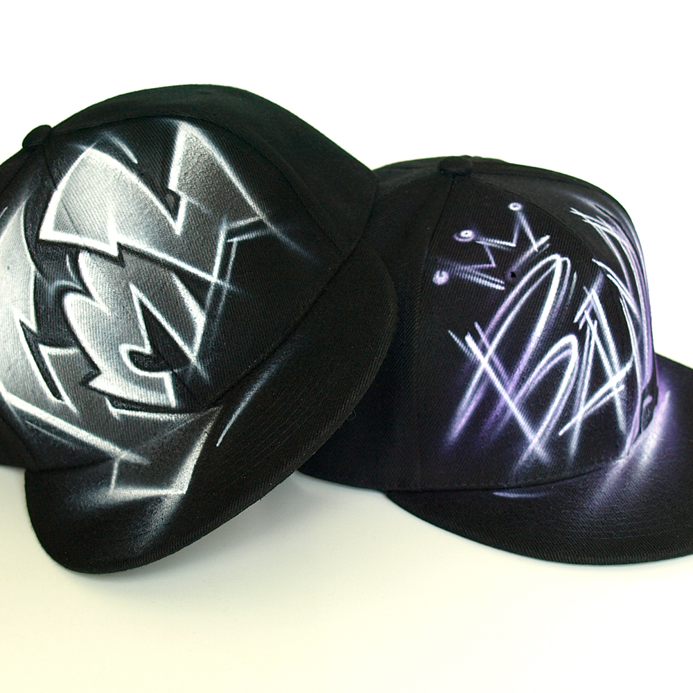 Custom Graffiti airbrushed Snapback hat   Fml