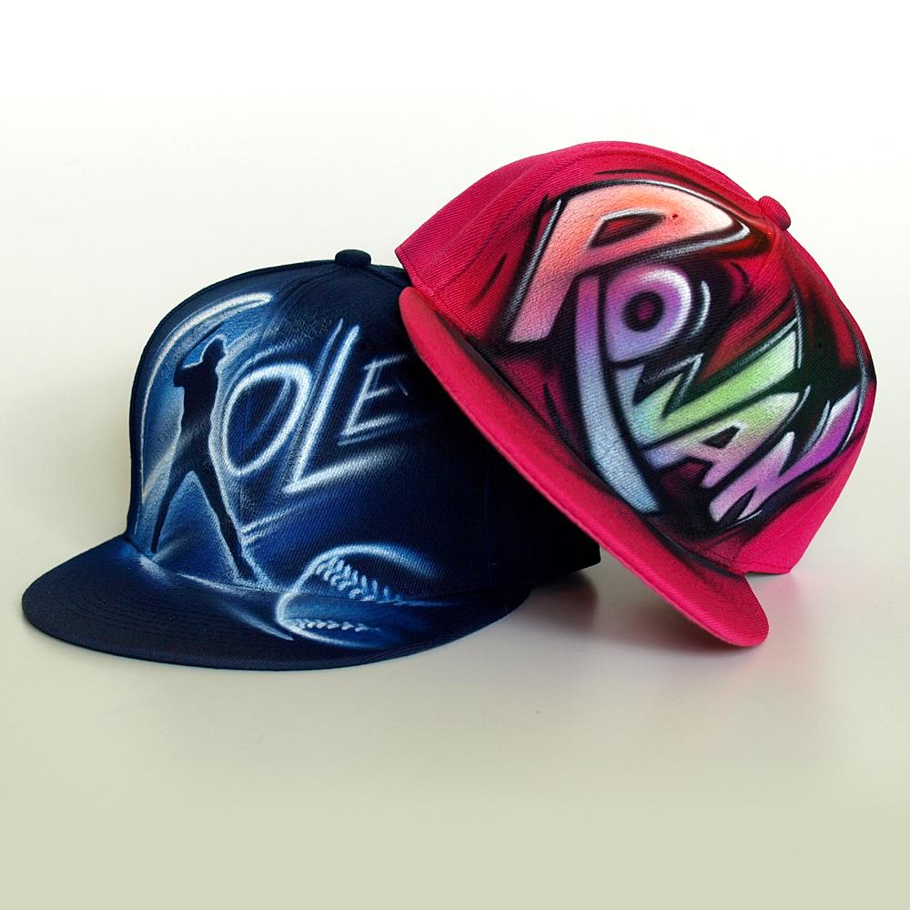 Custom Graffiti name Snapback hat   Rowan