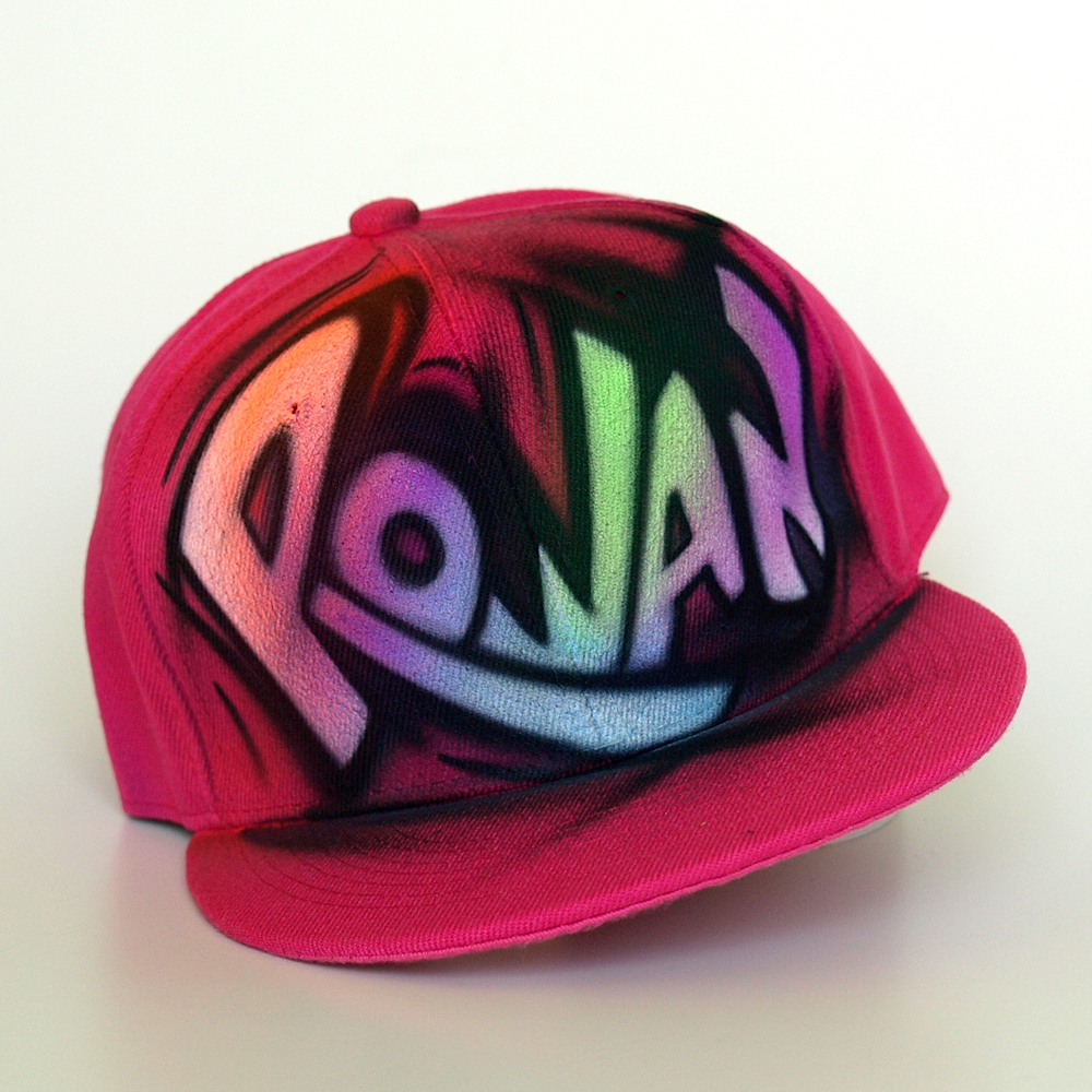 Custom Graffiti airbrushed Snapback hat | Rowan