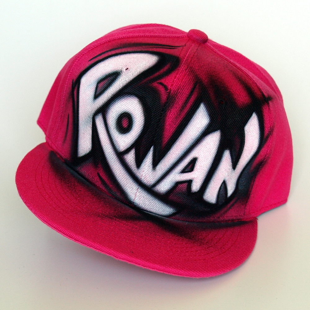 Custom Graffiti Snapback hat | Rowan