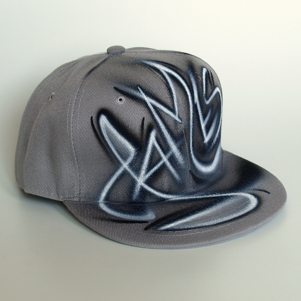 Custom Graffiti airbrushed Snapback hat | James