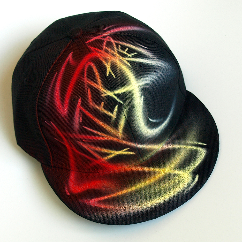 Custom Graffiti airbrushed Snapback hat | Jayzer Saret