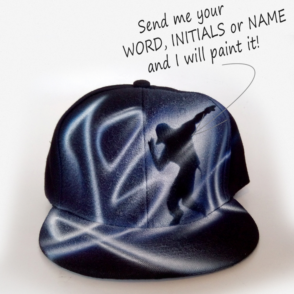 Custom Painted Snapback hat | Josh
