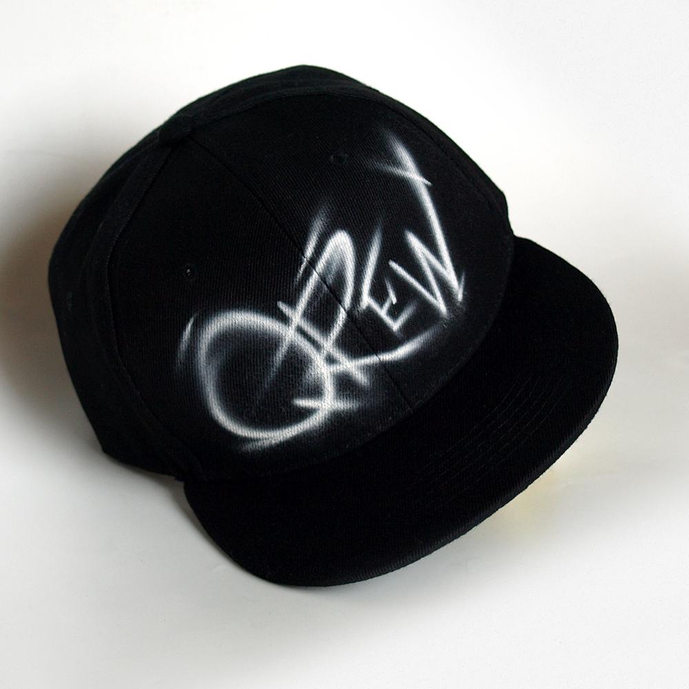 Custom Graffiti Initials Snapback hat | Qrew