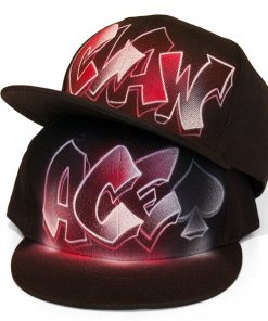 Airbrushed Snapback Hat | ACE | CLAW