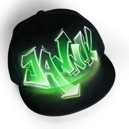 Painted Snapback Hat   JANNIK