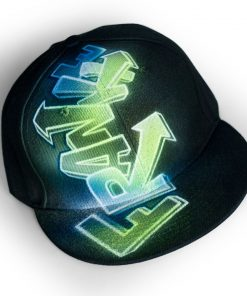 Spray-Painted Snapback Hat | FRANKIE