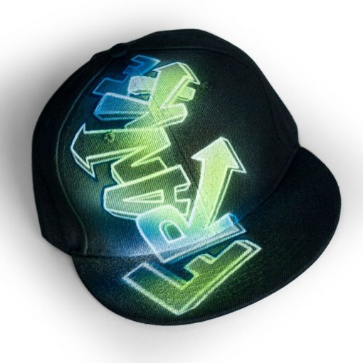 Spray-Painted Snapback Hat | FRANKIE