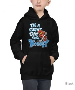 It's a Great Day for Hockey | Black Color | Kids Hoodie