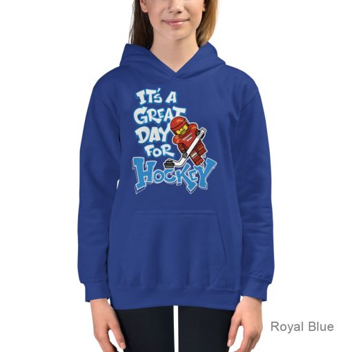 Personalized HOCKEY Hoodie for Kids | It's a Great Day for Hockey