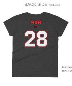 Personalized Hockey MOM Tee | Back Side | Heather Dark Gray
