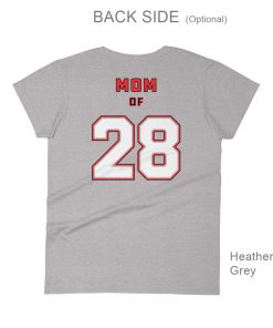 Personalized Hockey MOM Tee | Back Side | Heather Gray