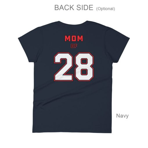 Personalized Hockey MOM Tee | Back Side | Navy