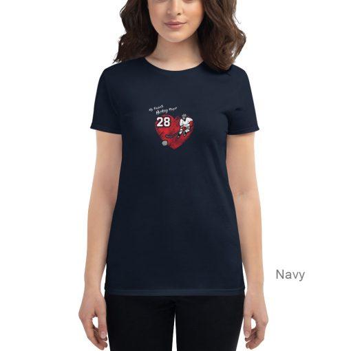 Personalized Hockey MOM Tee | Navy