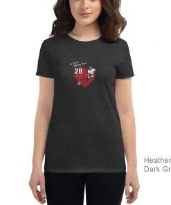 Personalized Hockey MOM Tee | Heather Dark Gray