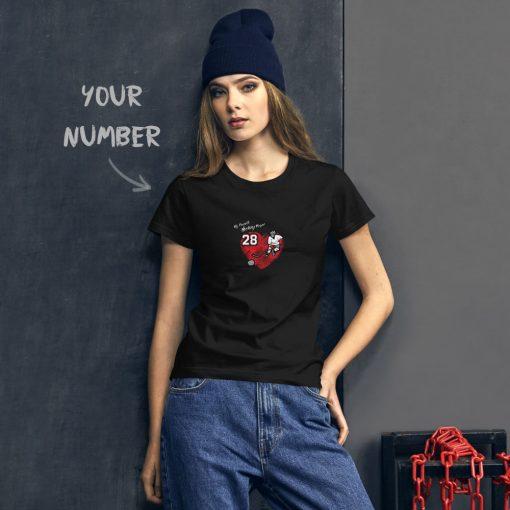 Personalized Hockey MOM Tee | Black