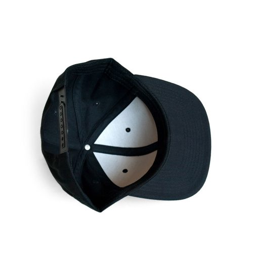Snapback cap underside