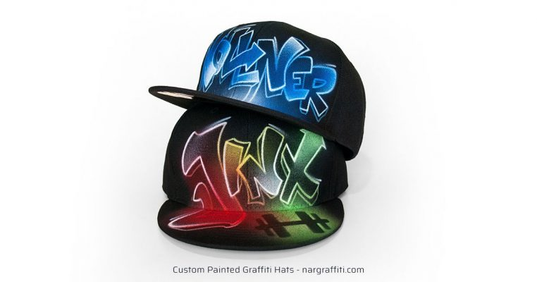 Painted Graffiti Hats